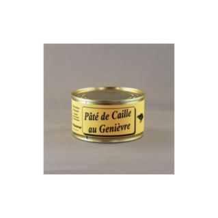 Pâté de Caille au genièvre 130 gr