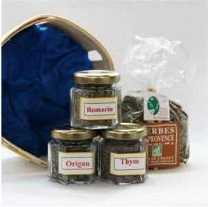 Panier d'herbes arômatiques