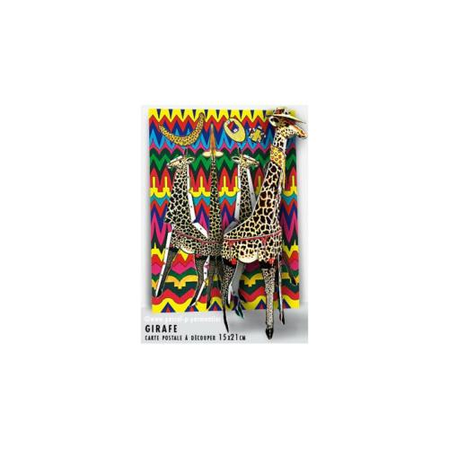 Carte postale à découper Girafe