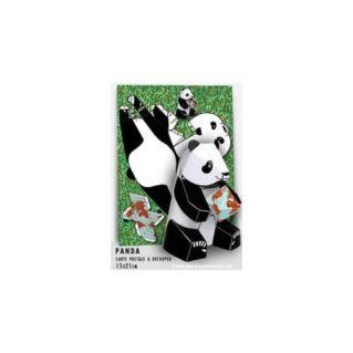 Carte postale à découper Panda