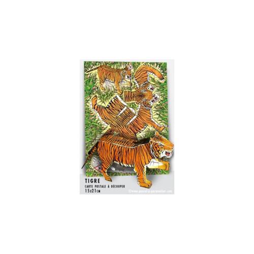 Carte postale à découper Tigre
